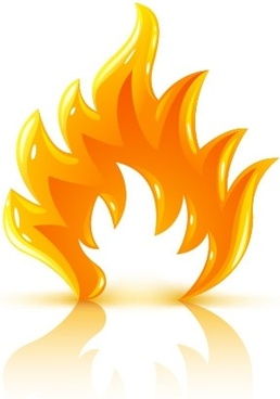 cool threedimensional flame vector