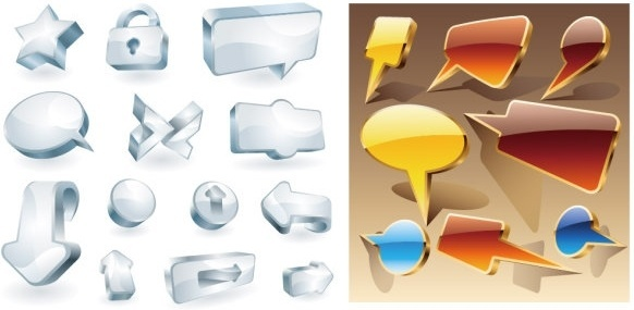 cool threedimensional icon vector