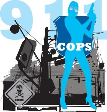 cops vector