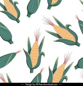 corn pattern colored classic flat repeating design