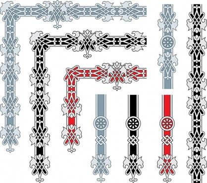 border decorative templates formal european symmetric decor