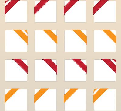 corner ribbon set