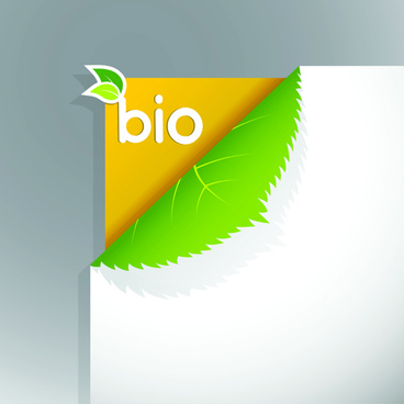 corner template bio design vector