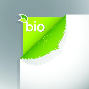 corner template bio design vector
