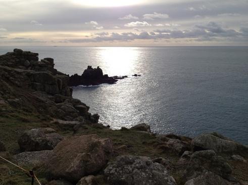 cornwall sea rocky coast