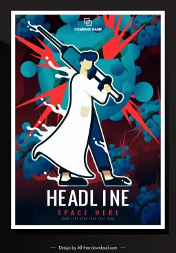 corona epidemic poster doctor weapon viruses sketch