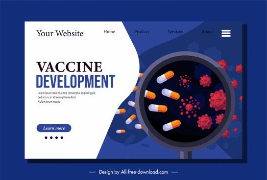 corona epidemic website banner capsules viruses sketch