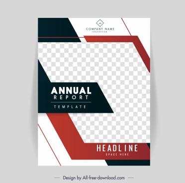corporate annual report cover template bright elegant checkered