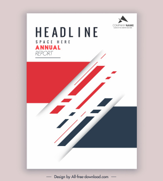 corporate annual report template elegant bright modern design