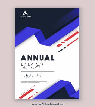 corporate annual report template elegant modern 3d design