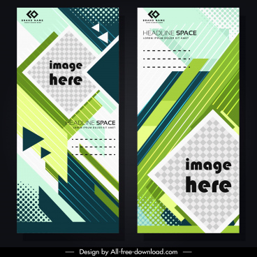 corporate banner template colorful modern geometric decor