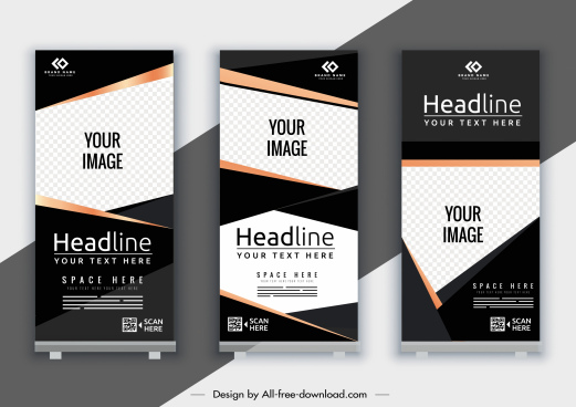 corporate banner template elegant modern decor vertical shape