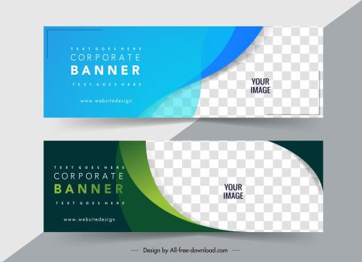 corporate banner template elegant plain checkered decor
