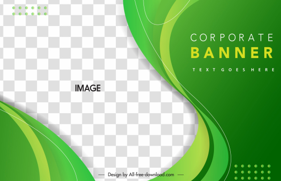 corporate banner template modern dynamic curves checkered decor