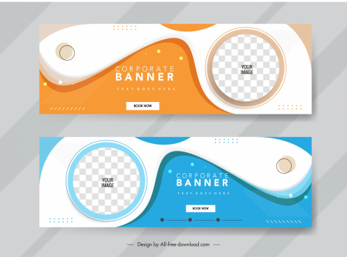 corporate banner templates bright colorful technology abstract decor
