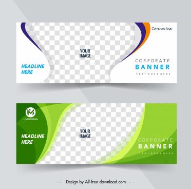 corporate banner templates bright modern checkered decor