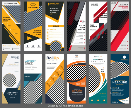 corporate banner templates collection modern vertical design