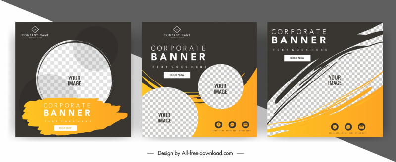 corporate banner templates dark grunge checkered decor