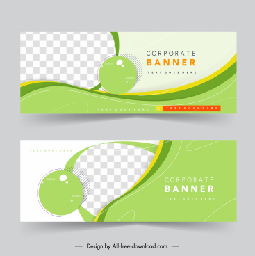 corporate banner templates elegant bright checkered circle curves
