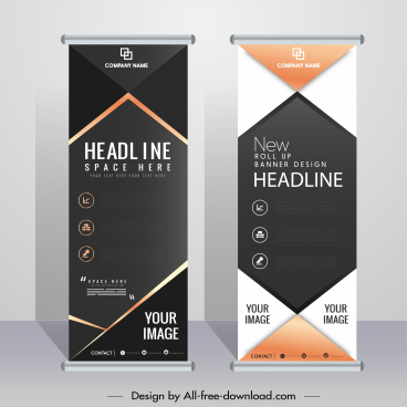 corporate banner templates elegant contemporary vertical design