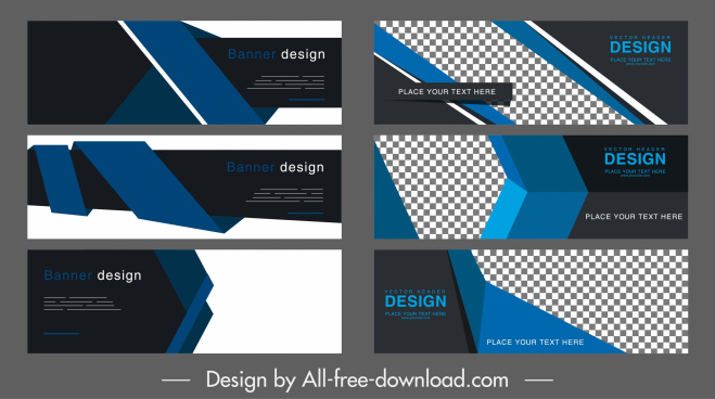corporate banner templates elegant dark 3d technology decor
