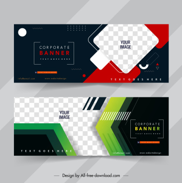 corporate banner templates elegant dark colorful modern decor