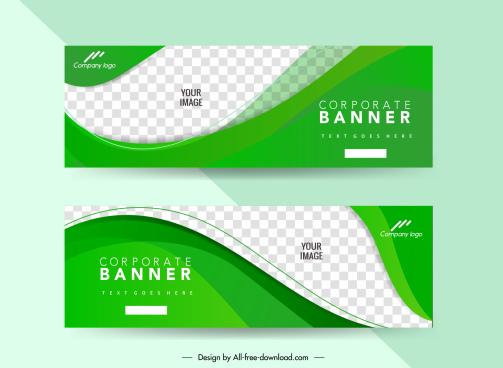 corporate banner templates elegant modern checkered curves decor