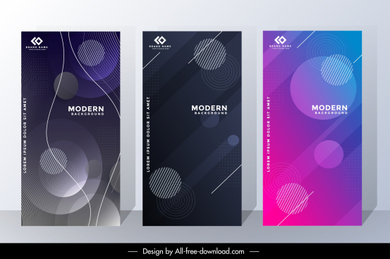 corporate banner templates elegant modern circles decor