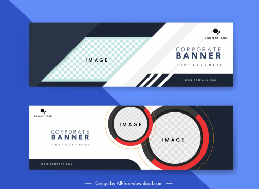 corporate banner templates elegant modern contrast checkered geometry