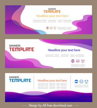corporate banner templates horizontal design modern abstract decor