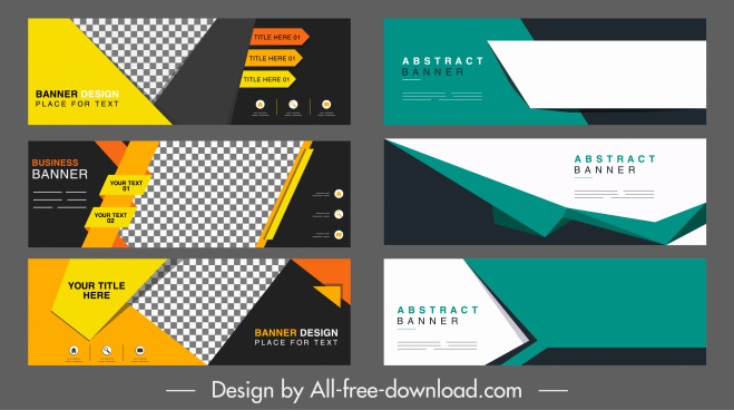 corporate banner templates modern abstract technology horizontal design