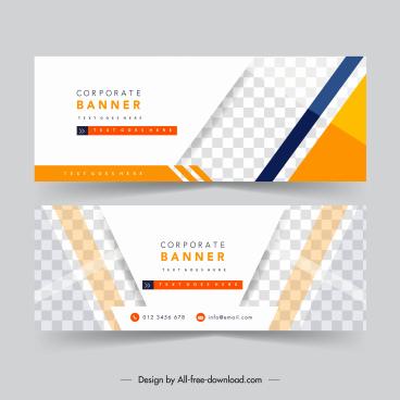 corporate banner templates modern bright elegant checkered decor