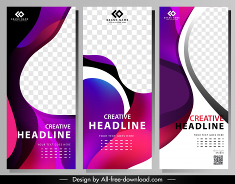 corporate banner templates modern colorful abstract decor