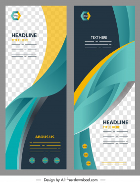 corporate banner templates modern colorful dynamic decor