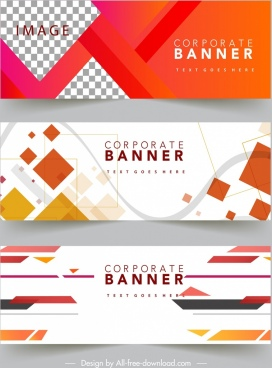 corporate banner templates modern colorful geometric decor