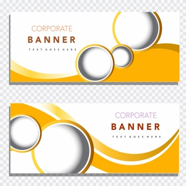 corporate banner templates modern design circles curves decor