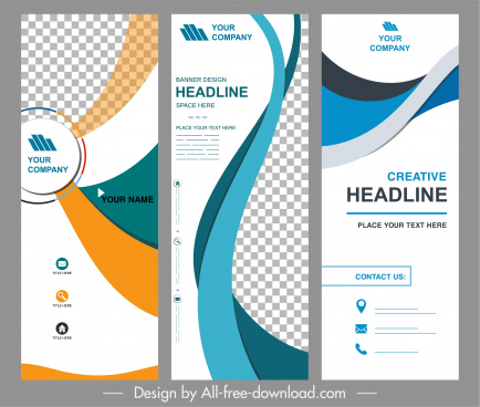 corporate banner templates modern dynamic decor standee shape