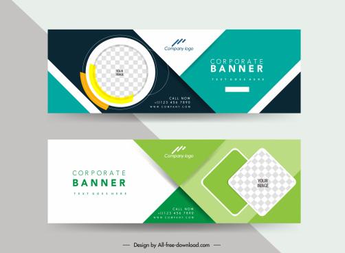 corporate banner templates modern geometric checkered decor