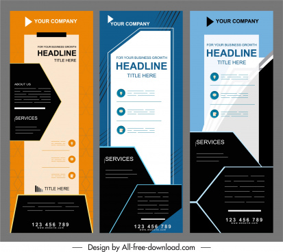 corporate banner templates vertical design technology modern decor