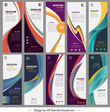 corporate banners collection dynamic modern design vertical shapes
