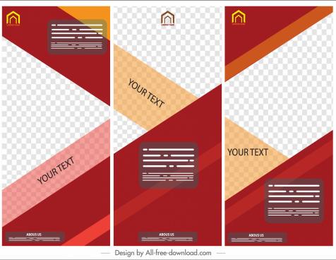 corporate banners modern cross checkered decor vertical design