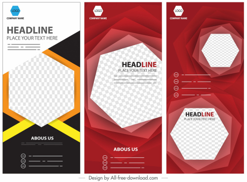 corporate banners modern geometric checkered elegant vertical design
