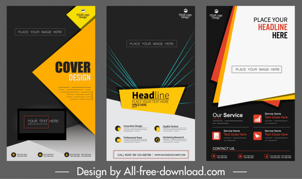 corporate banners templates elegant contrast modern technolog decor