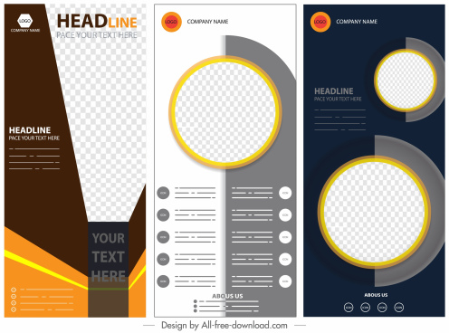 corporate banners templates modern checkered decor vertical design