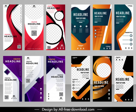 corporate banners templates modern colorful decor