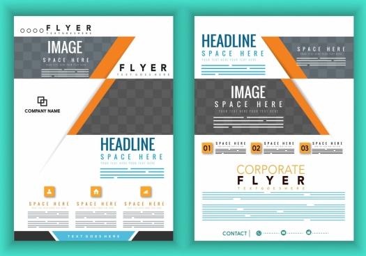 corporate brochure cover template modern white grey design