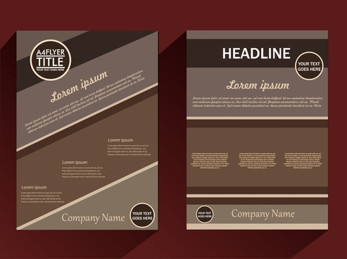 corporate brochure design with dark classical background