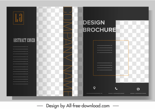 corporate brochure elegant modern checkered contrast design