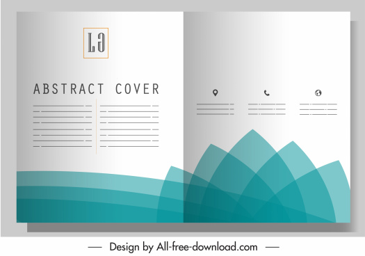 corporate brochure template bright blurred petals decor