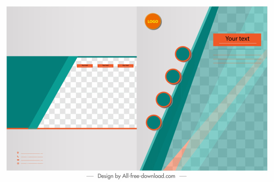 corporate brochure template checkered decor modern colorful flat